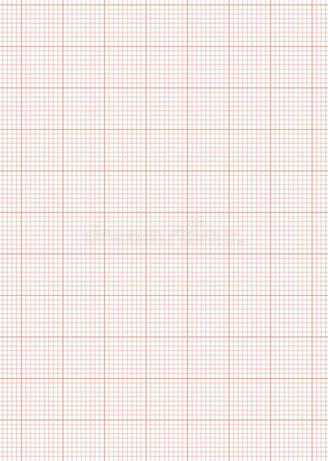 Graph Paper A4 Sheet Red Royalty Free Stock Photo - Image: 14519205