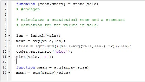 Include MATLAB code in models that generate embeddable C code ...