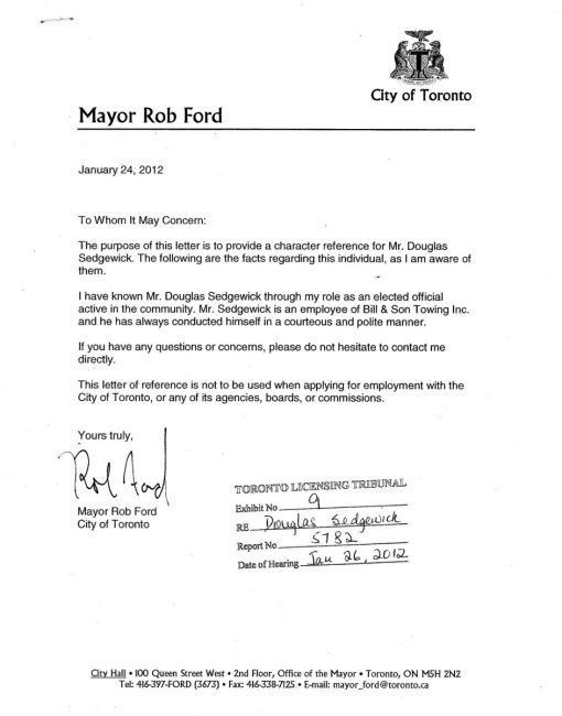 "Ford wrote letter to help reinstate ""stunt-driving"" tow truck ..."