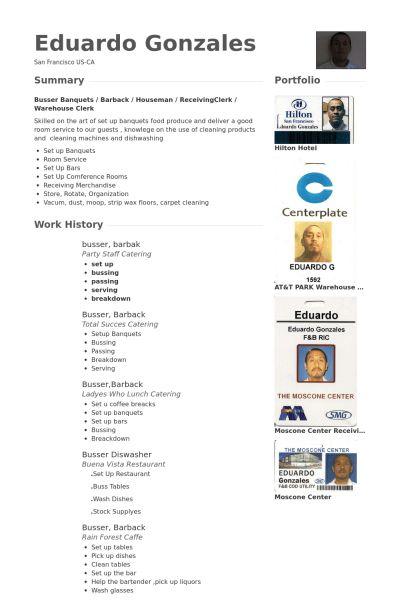 Busser CV Örneği - VisualCV Özgeçmiş Örnekleri Veritabanı