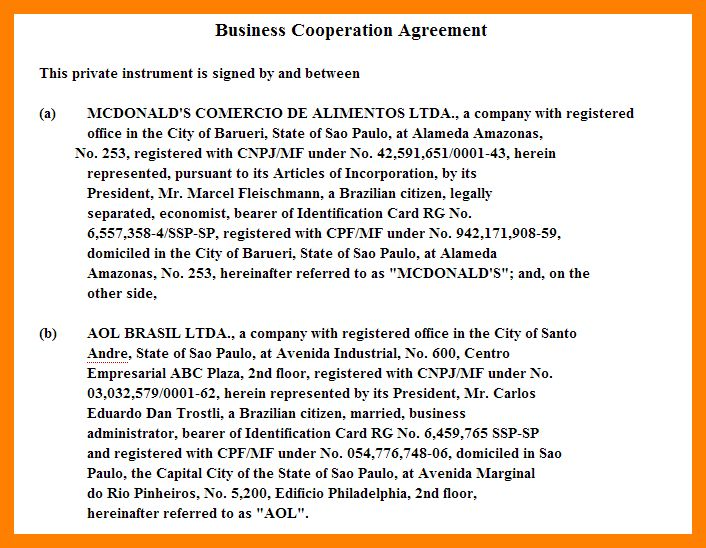 7+ contract between two companies | packaging clerks