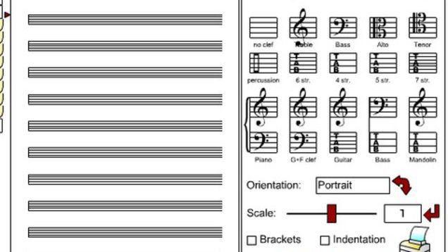 Print Free Sheet Music at BlankSheetMusic