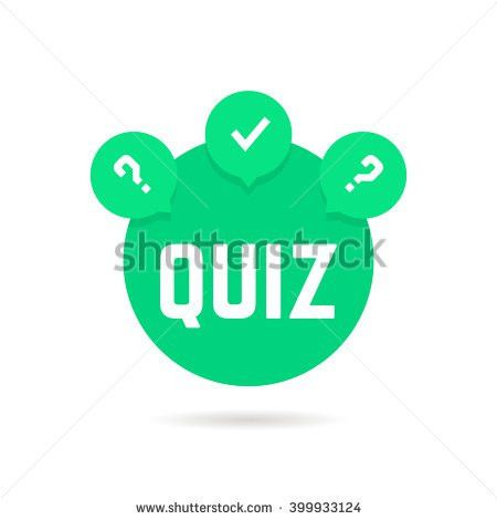 Green Quiz Icon Speech Bubble Concept Stock-vektorgrafik 399933124 ...