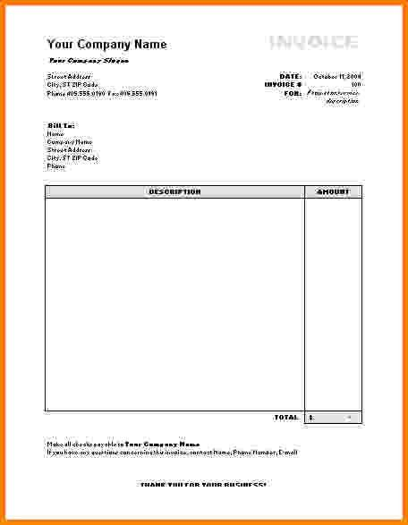 9+ invoice templates for microsoft word | Short paid invoice