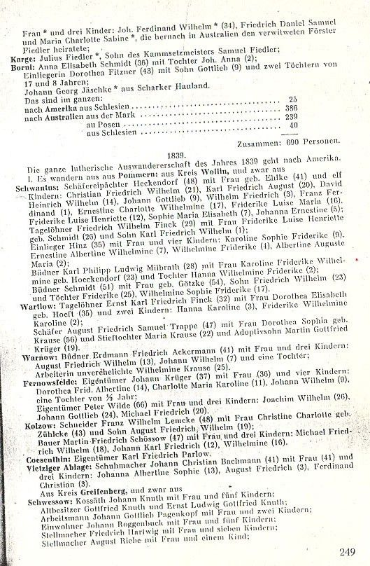 Old Lutheran Emigration List 2
