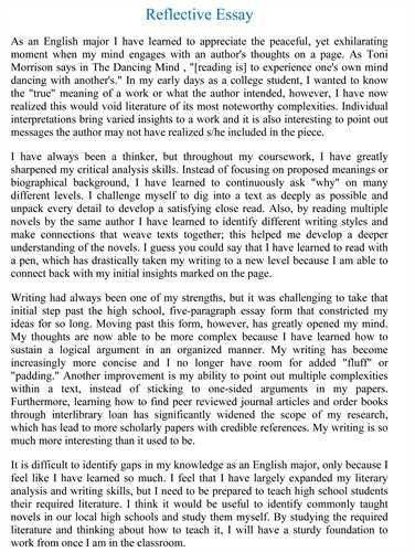 Example of a reflective essay introduction | How to make a good ...