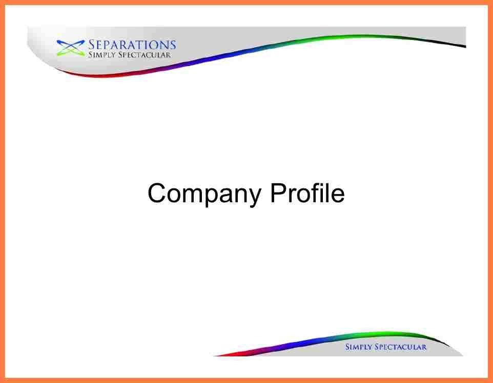 4+ company profile sample for new company | Company Letterhead
