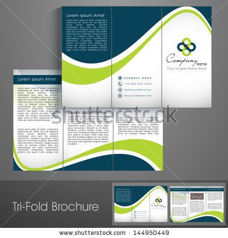 Professional business three fold flyer template, corporate ...