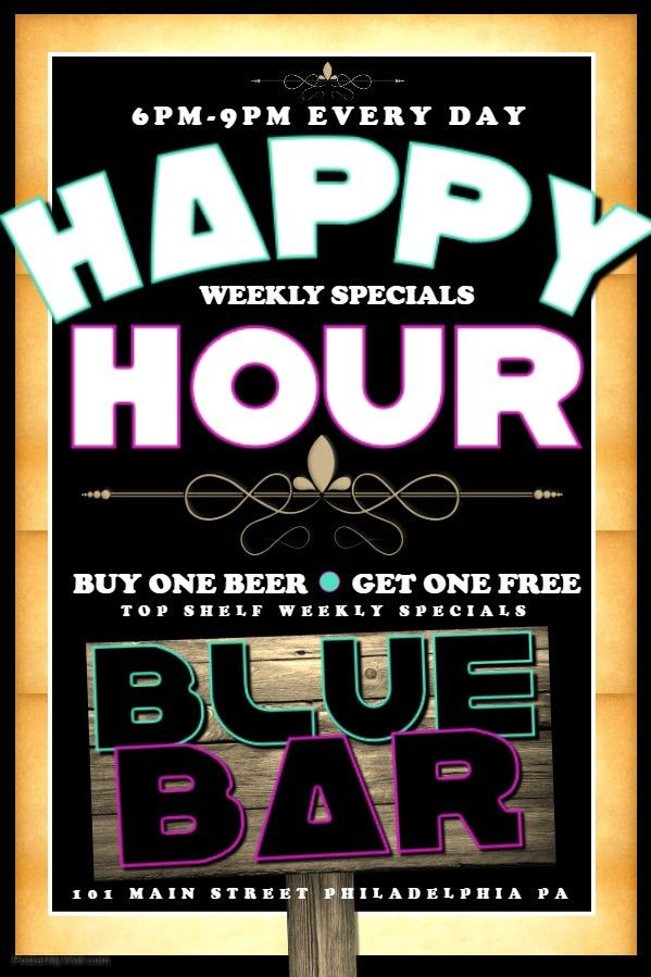 Bar Flyer Template Happy Hour Cocktail. Click on the image to ...