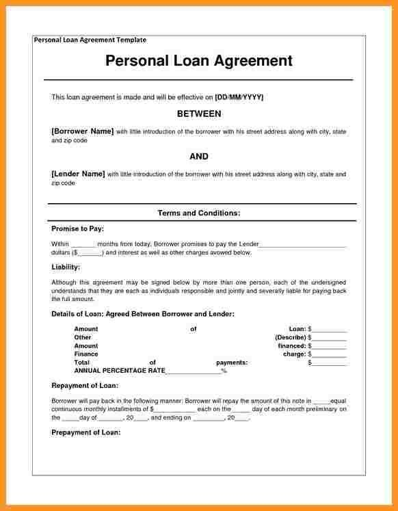 7+ loan contract template   buisness letter forms
