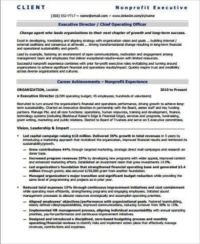 Sample Executive Director Resume - 7+ Examples in PDF