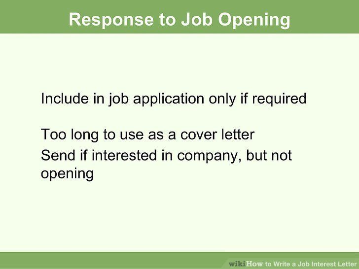 How to Write a Job Interest Letter (with Sample Letters)