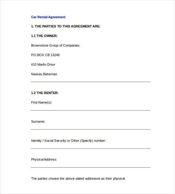 Free Lease Agreement Template Word Doc Free Texas Residential Lease - free lease template word