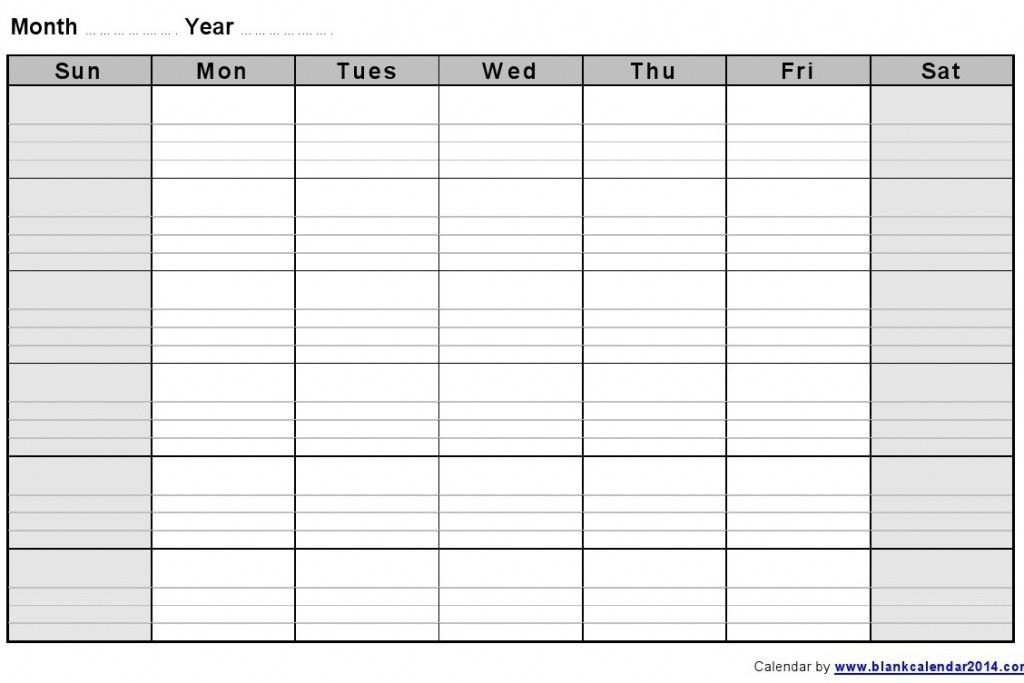 Sample Weekly Calendar. Blank Weekly Calendar Template Blank ...