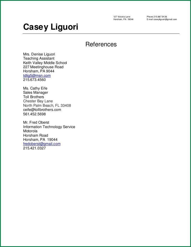 Download Resume References Template | haadyaooverbayresort.com