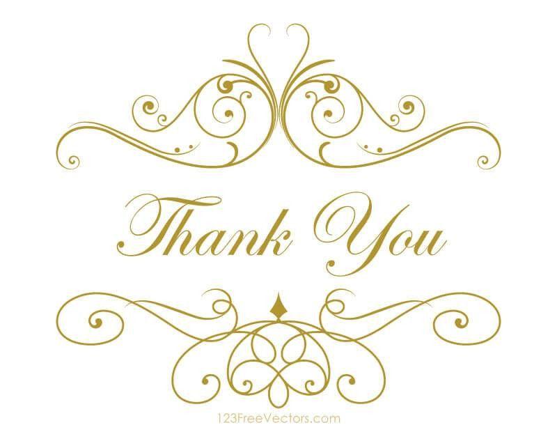 Thank you card template vectors download free vector art clip art ...