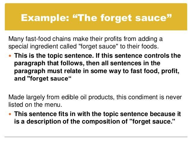 Paragraphs and topic sentences