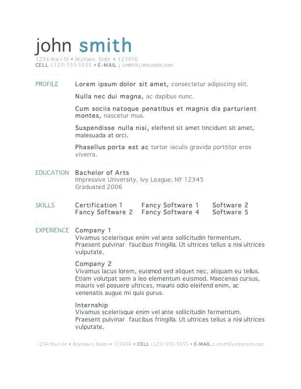 Resume Templates For Free – Okurgezer.co