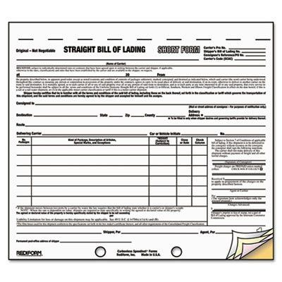 Bill Of Lading Template. Printable Sample Blank Bill Of Lading ...