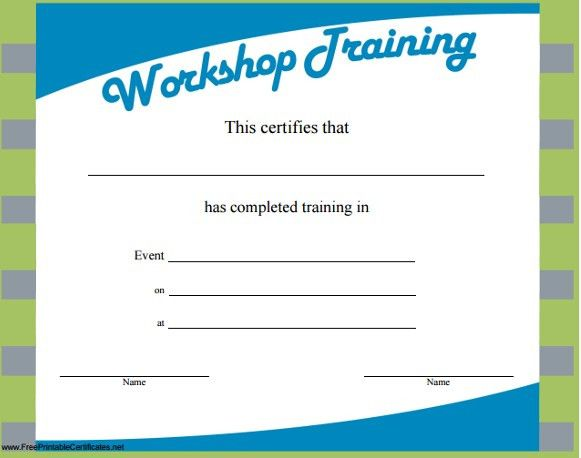 Top 5 Resources To Get Free Training Certificate Templates - Word ...