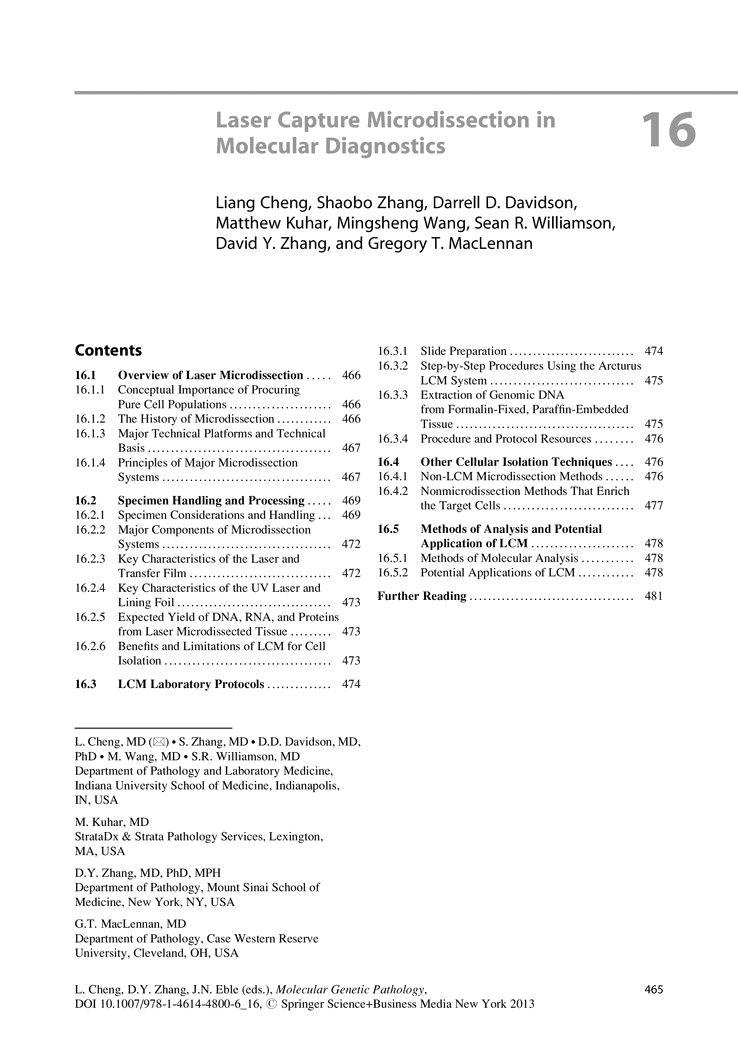 Laser Capture Microdissection in Molecular Diagnostics - Springer