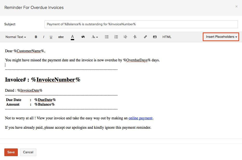 Invoice Reminder | free printable invoice
