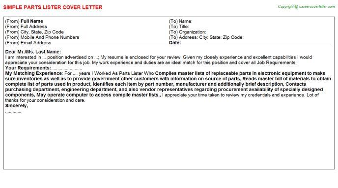 Ebay Lister Cover Letters