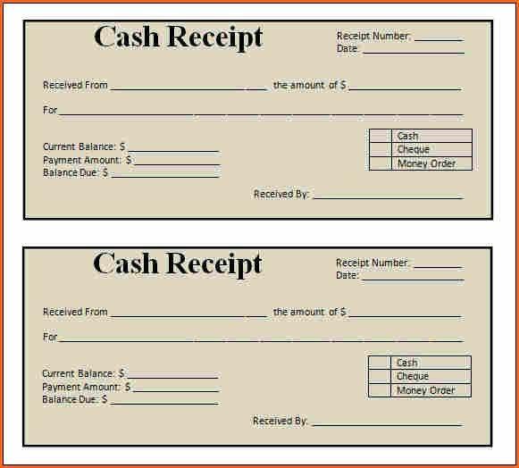 9+ blank receipt template - Budget Template Letter