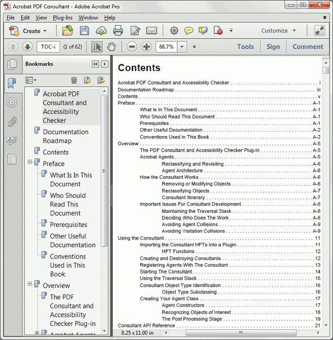 Automatic Generation of Table of Contents From PDF Bookmarks