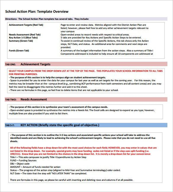School Action Plan Template – 5+ Free Word, Excel, PDF Format ...