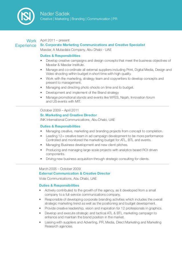 Marketing & Creative CV