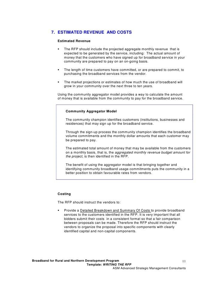 RFP Template 2: Writing the Request for Proposal (RFP)