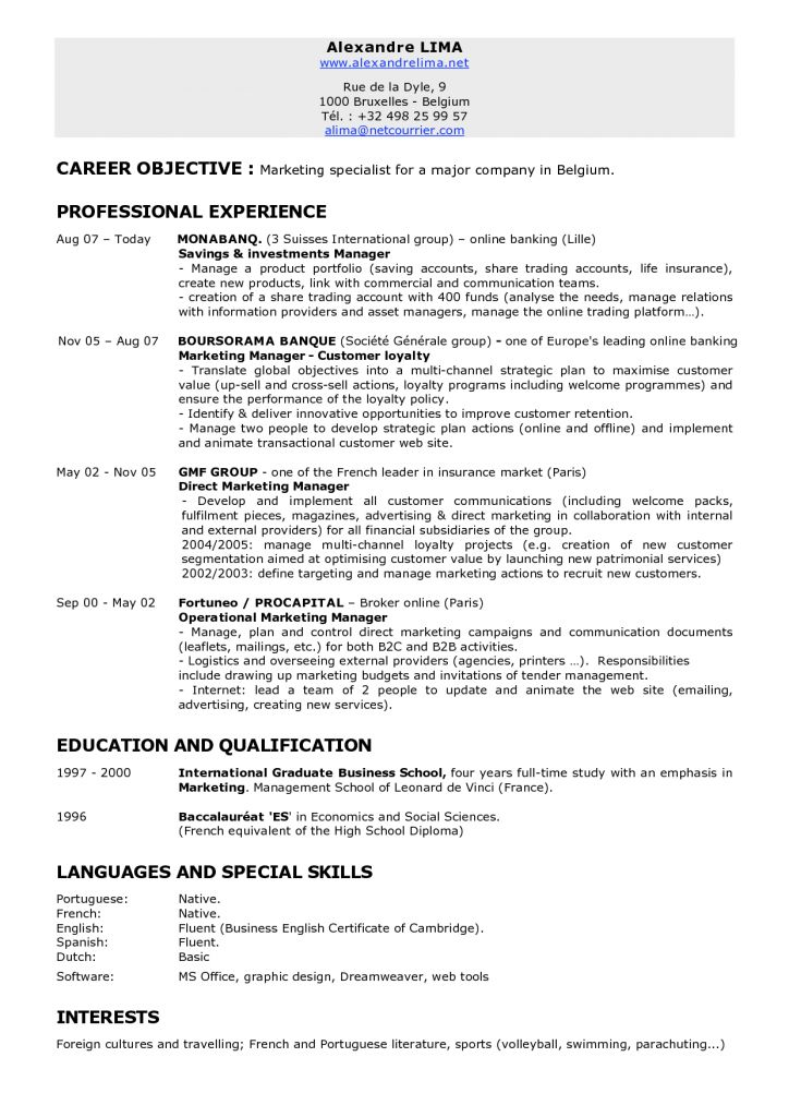 Social Work Goals And Objectives For Resume | Free Resume Templates