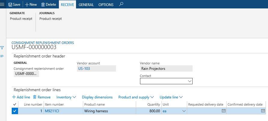 Set up consignment | Microsoft Docs