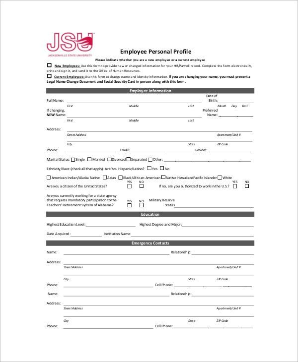 Sample Employee Profile - 8+ Documents in Word, PDF