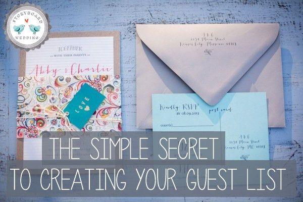 Creating Your Wedding Guest List | Storyboard Wedding