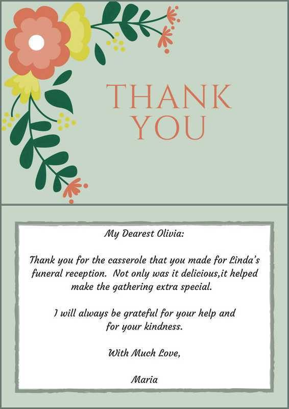 33+ Best Funeral Thank You Cards | Funeral, Note and Note cards