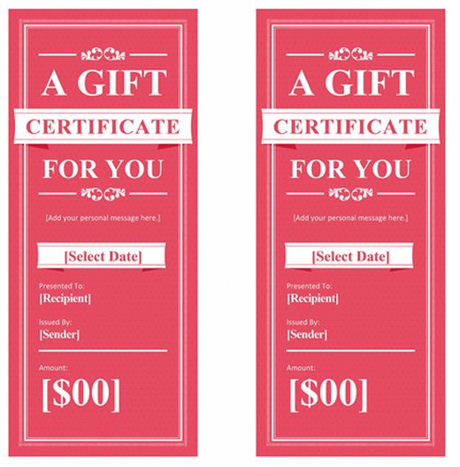 Spa-Gift-Certificate.png (520×527)   Branding & Design   Pinterest ...