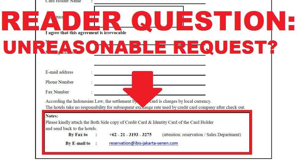 Reader Question: Unreasonable Request From Ibis Senen In Jakarta ...