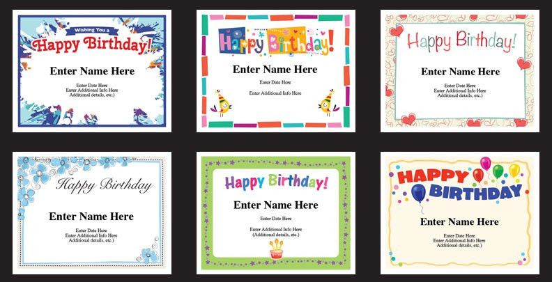 Happy Birthday Certificates | Birthday Cards | Facebook Messages