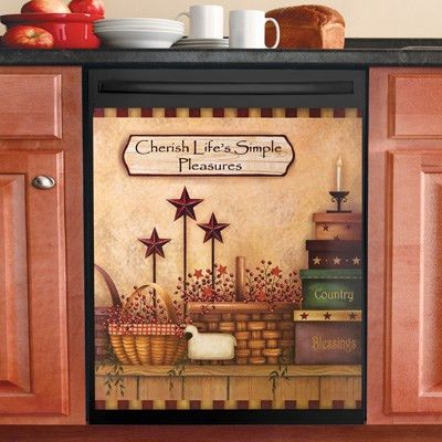 Primitive Country Dishwasher Magnet Cover | Primitive Country ...