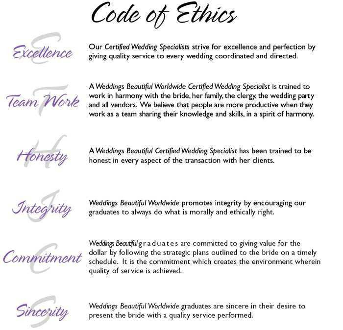 Code Of Ethics – Weddings Beautiful Philippines