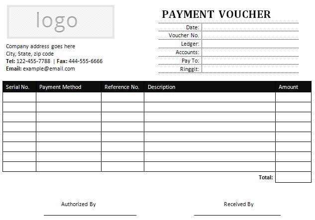 Sample Payment Voucher for MS Word | Office Templates Online