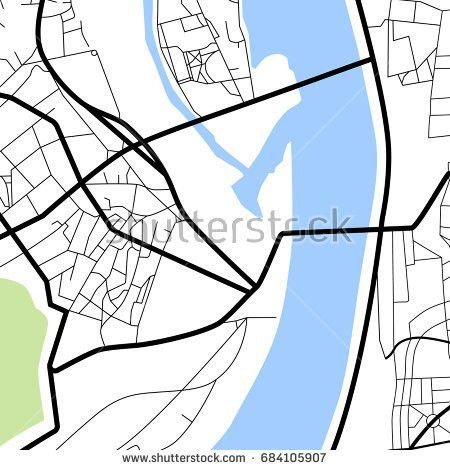 Manhattan Blank Road Map Vector Illustration Stock Vector ...