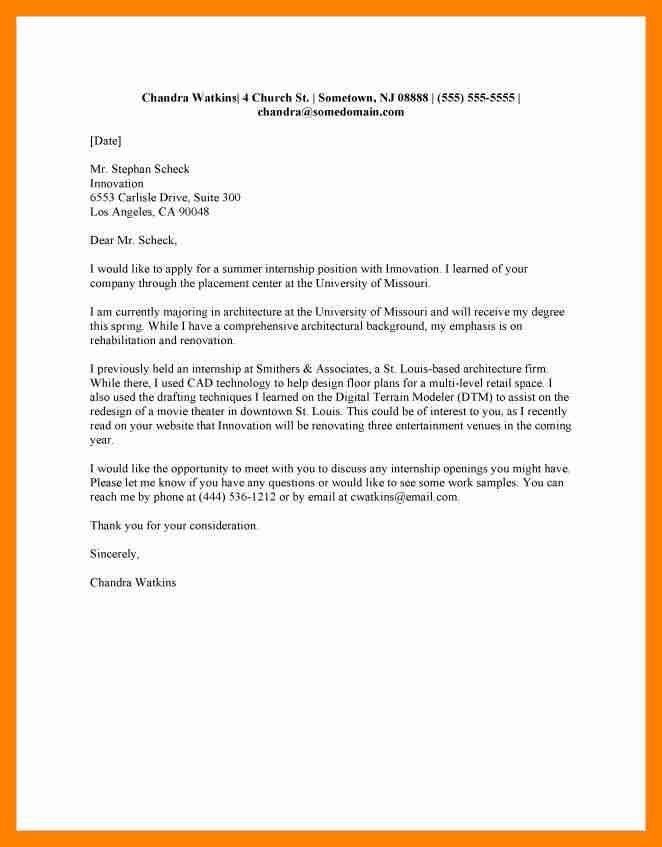 6+ internship cover letter | resumes great