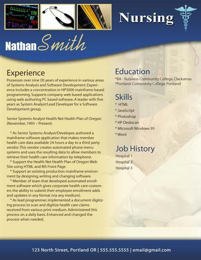 25 best ideas about nursing resume template on pinterest rn for ...