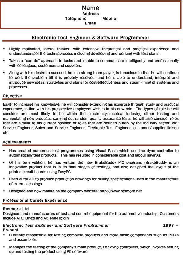 Electronics Engineer Sample Resume | haadyaooverbayresort.com
