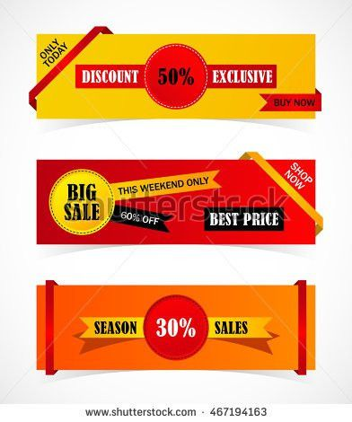 Vector Stickers Price Tag Banner Label Stock Vector 467194163 ...