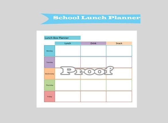 School Lunch Schedule Template | Mytemplate.co