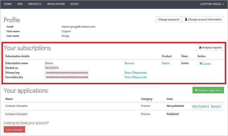 User profile templates in Azure API Management | Microsoft Docs